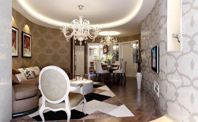 salon comedor pequeño elegante lujoso ideas