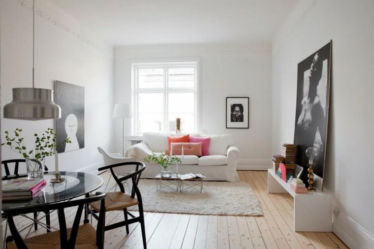 salon comedor peque o 25 ideas que te impresionaran. Black Bedroom Furniture Sets. Home Design Ideas