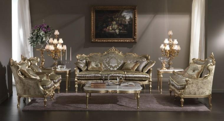 salon lujoso muebles vintage retro