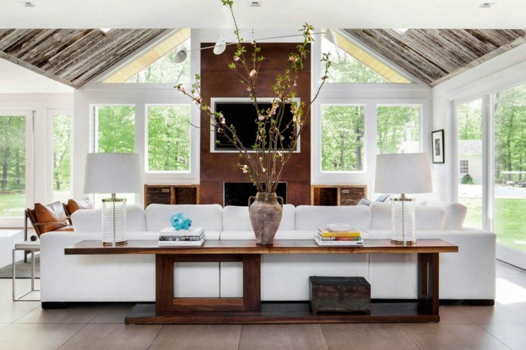 salon moderno cofre vintage