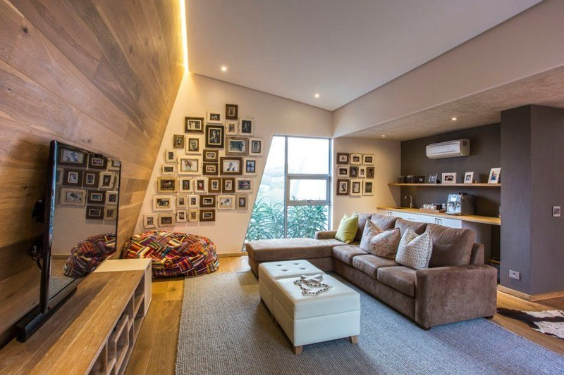 salon moderno paredes color marron fotos ideas