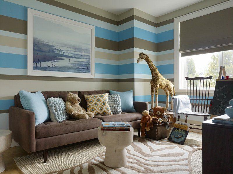 Salon Moderno Ideas De Paredes De Color Marr 243 N