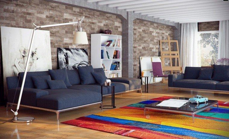 deco salon moderno alfombra colores