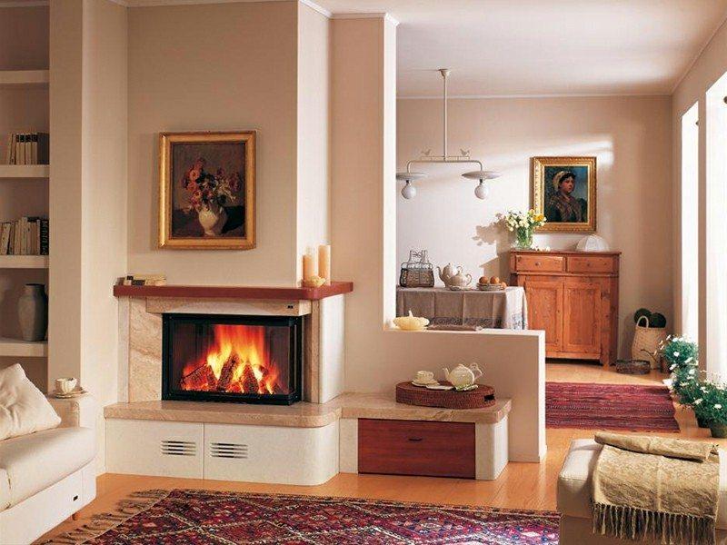 Salones con chimenea 65 ideas ardientes for Chimeneas tradicionales