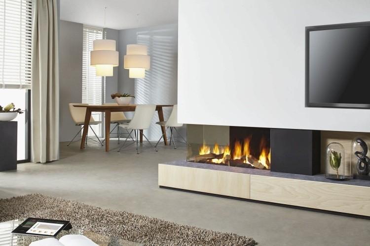 salones chimeneas ideas alfombras calido