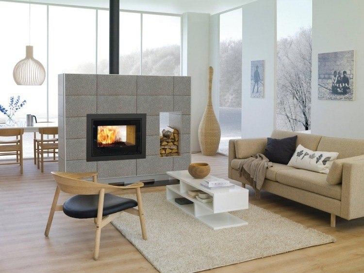Salones chimeneas y decoraci n de ambientes modernos - Decoracion de salones con chimenea ...