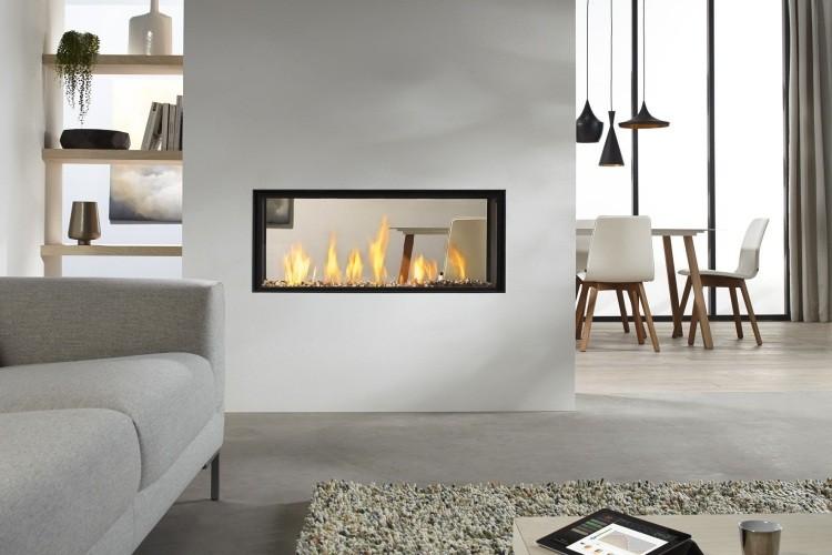 salones chimeneas ideas troncos fuego plantas