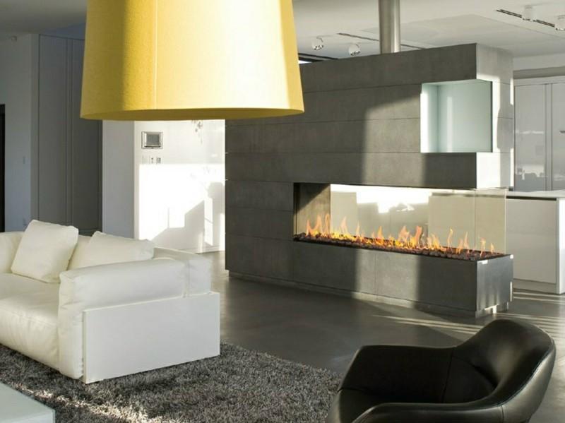 salones chimenea modernos grande original ideas