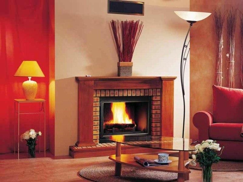 salones con chimenea modernos mesa cristal ideas