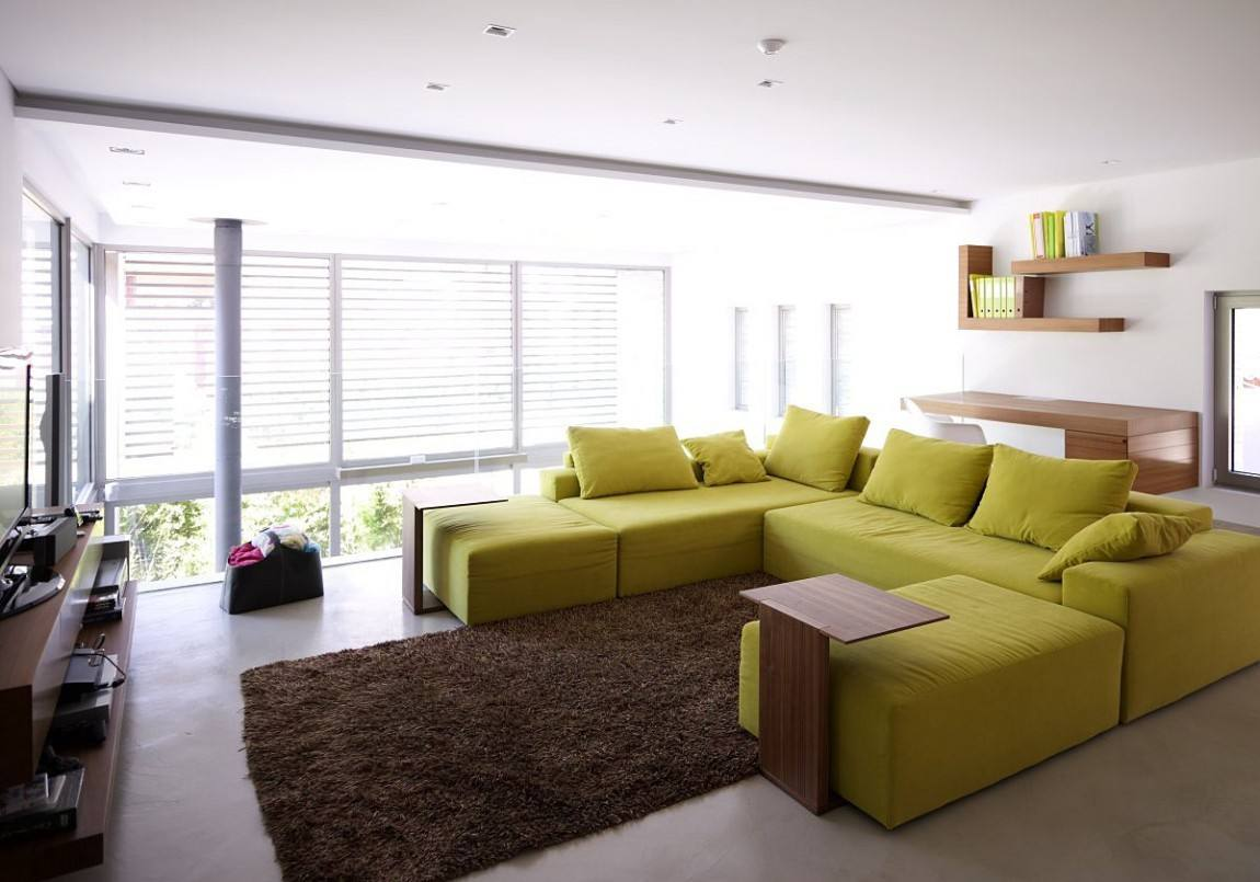 salones decoracion diseno sofa amarilla grande ideas