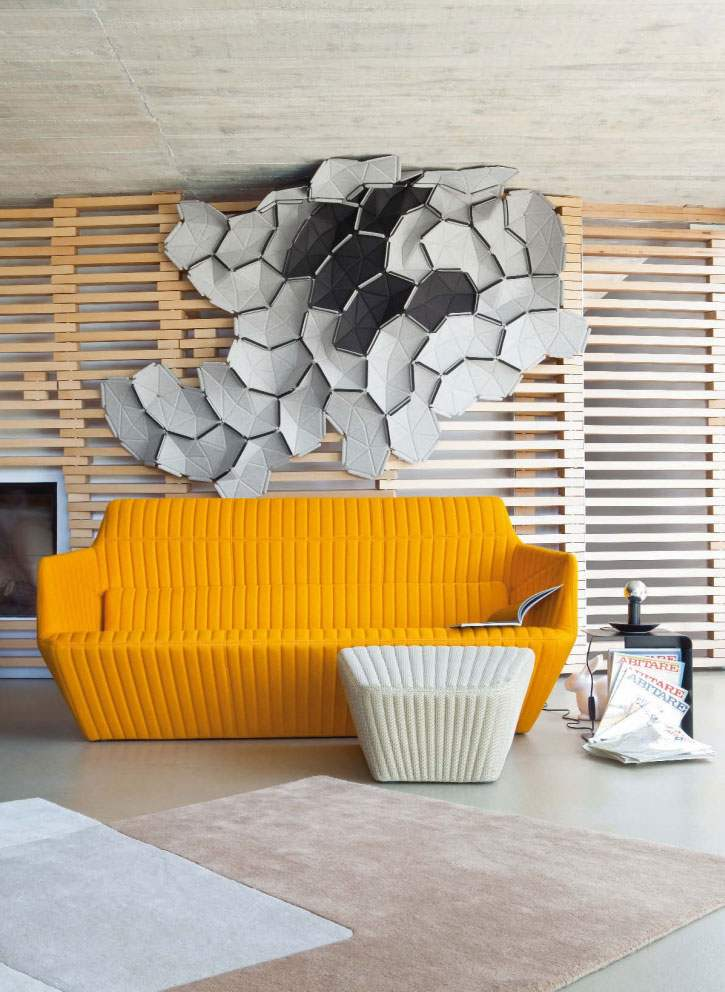 salones decoracion diseno sofa amarillo ideas