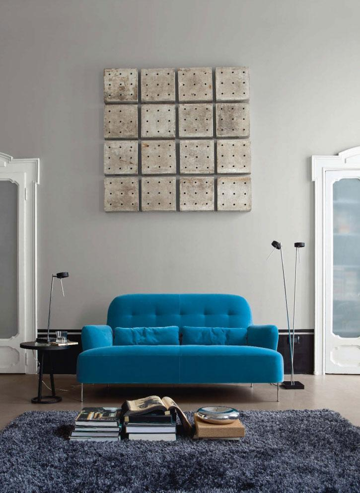 salones decoracion diseno sofa azul ideas