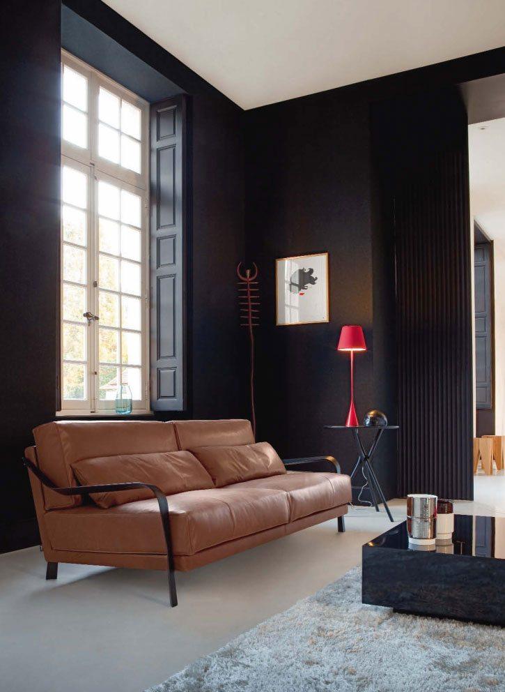 salones decoracion diseno sofa cuero ideas