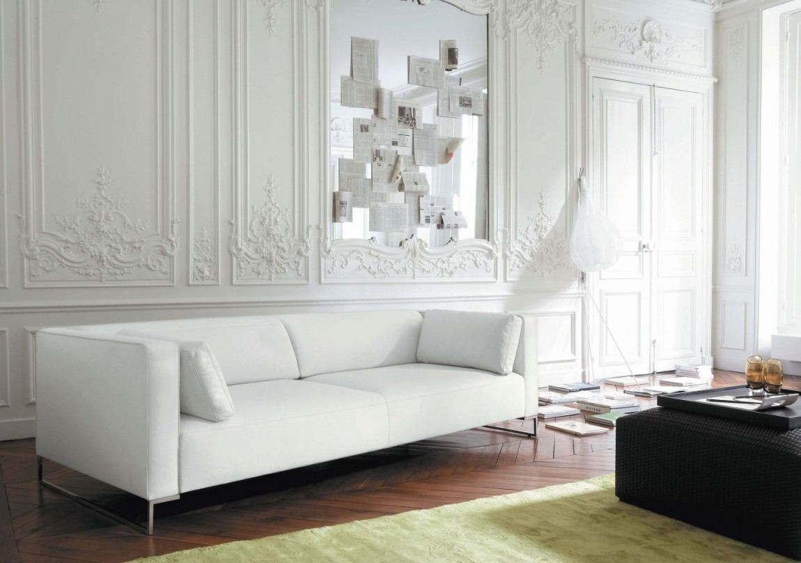 salones decoracion diseno sofa pared blanca ideas