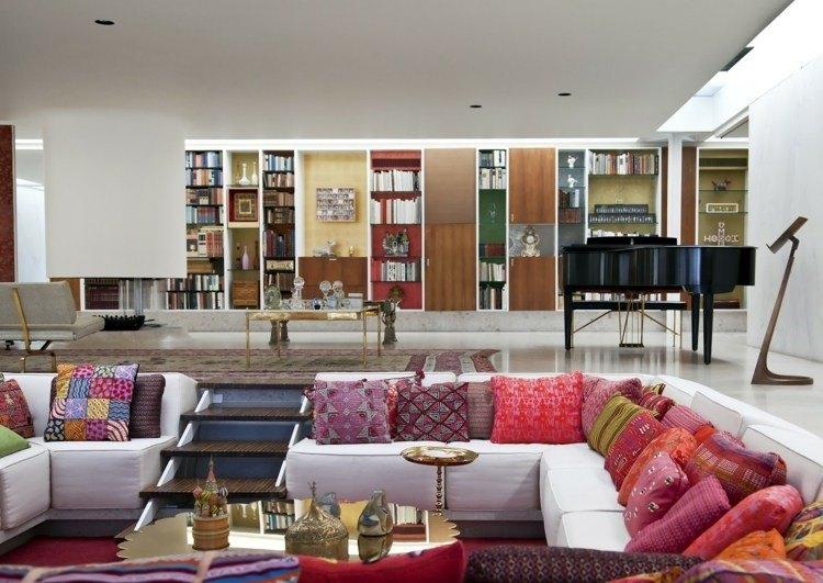 salones diseño abierto decoracion colorido variante