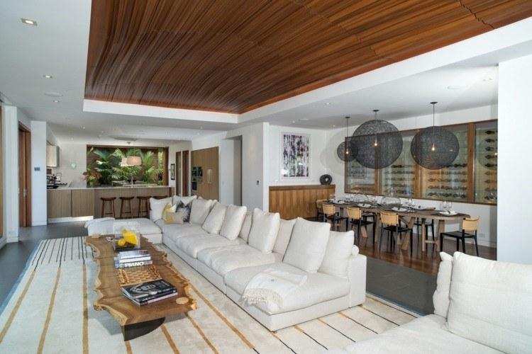 salones diseño abierto decoracion sofa techo