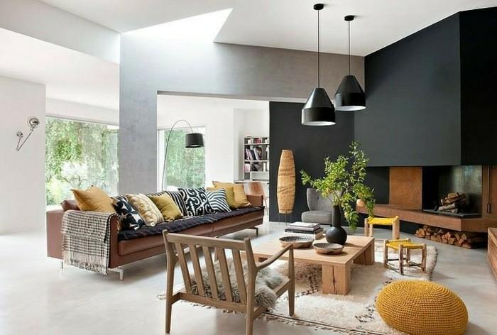 salones diseño moderno chimeneas modernas