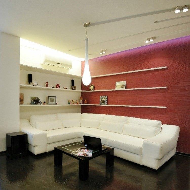 salones estetica estilo moderno estantes blancos ideas