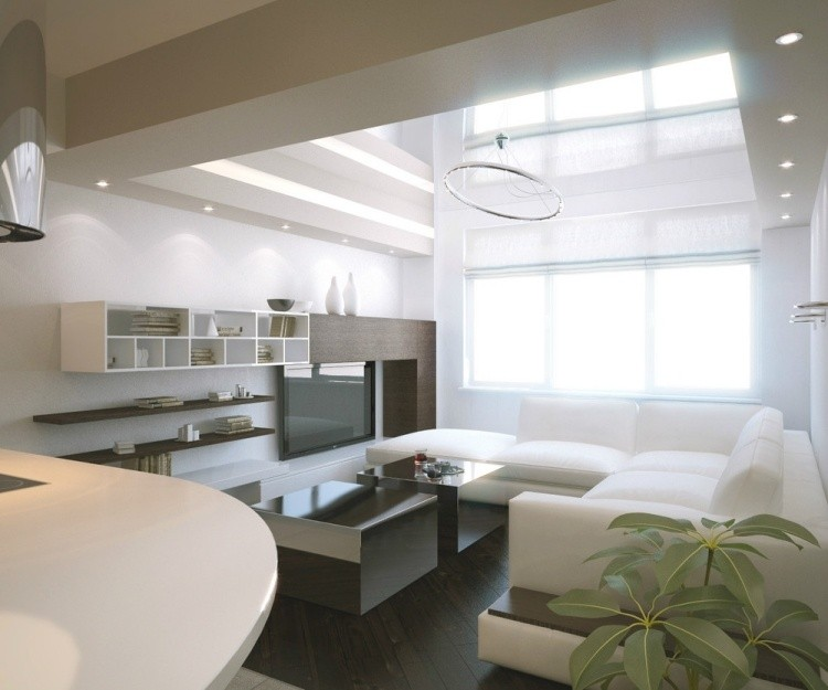 salon estetica estilo moderno muebles blancos ideas