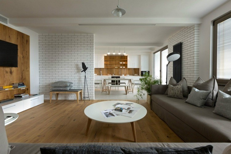 salon estetica estilo moderno pared madera ideas