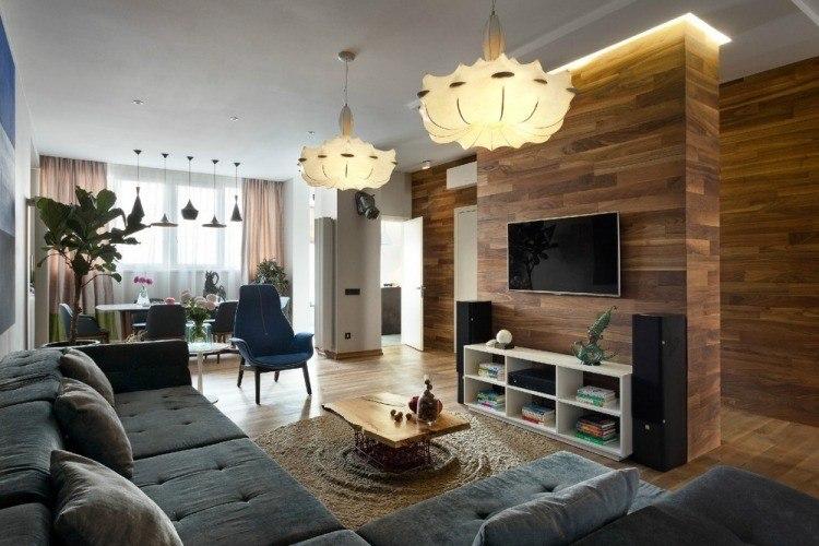 salon estetica estilo moderno pared separadora ideas