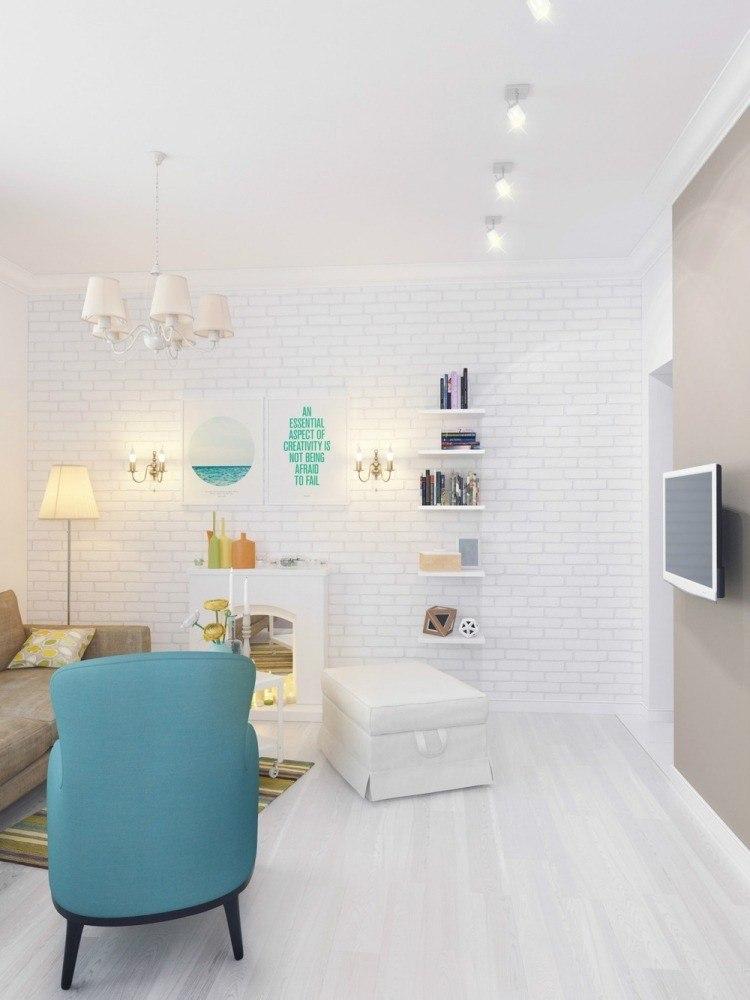 salon estetica estilo moderno sillon azul ideas