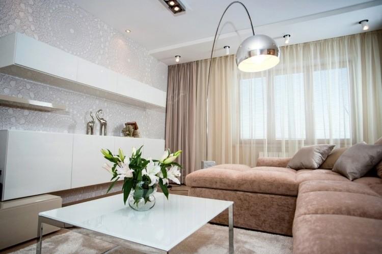 salon estetica estilo moderno sofa beige ideas