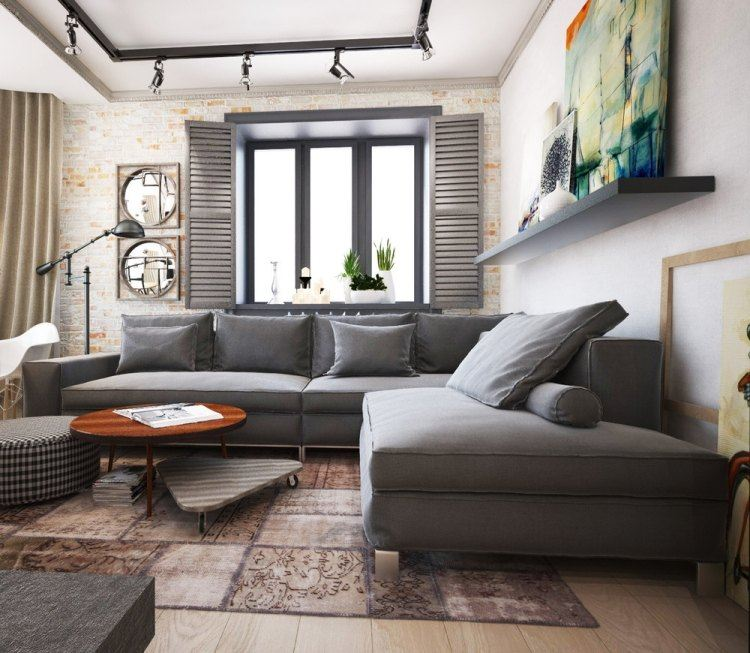 salones estetica estilo moderno sofa gris ideas