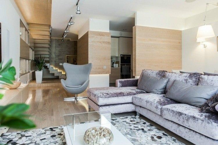 salon estetica estilo moderno sofa terciopelo ideas
