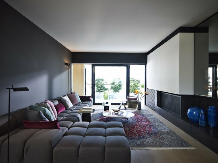 salones modernos muebles tonos grises