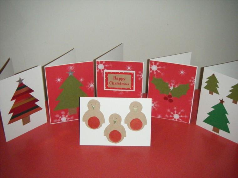 sencillas decoraciones tarjetas de navidad