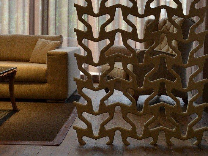 separador ambientes hogar moderno madera salon ideas