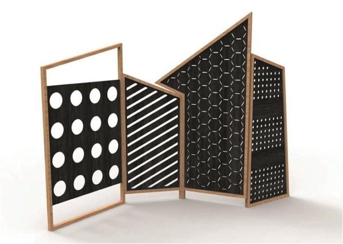 separadores de ambientes hogar moderno asimetrico ideas