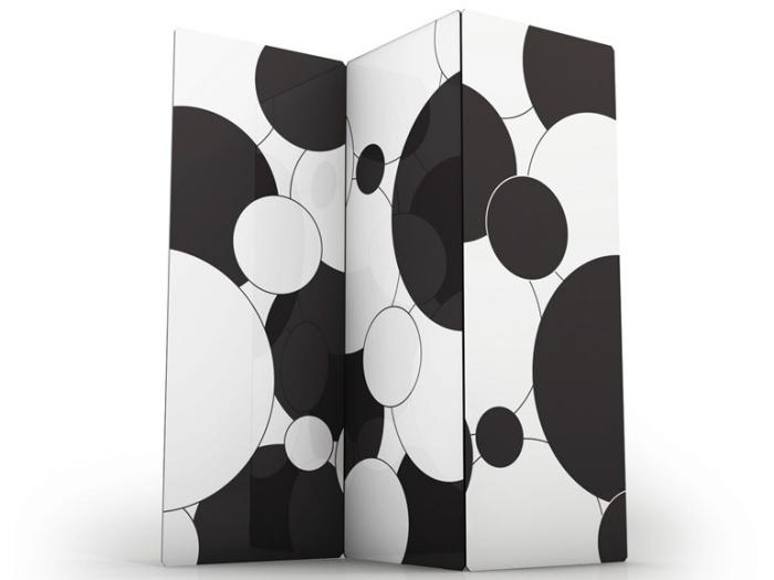 separador de ambientes hogar moderno burbujas blanco negro ideas