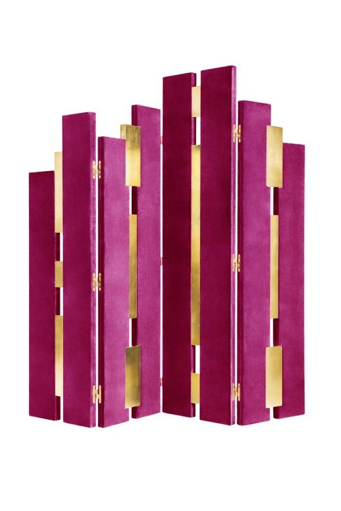 separadores de ambientes hogar moderno laminas rosa ideas