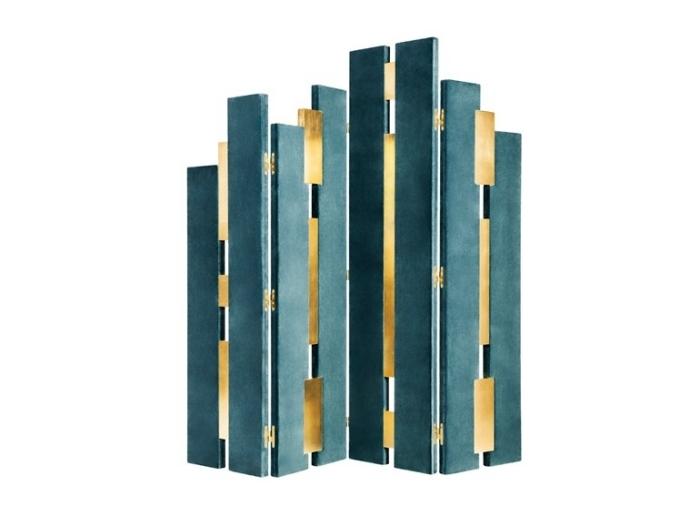 separadores de ambientes hogar moderno laminas verdes ideas