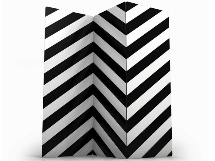 separador ambientes hogar moderno rayas blancas negras ideas