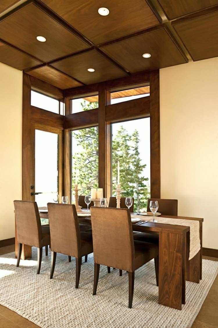 sillas comedor color marrón