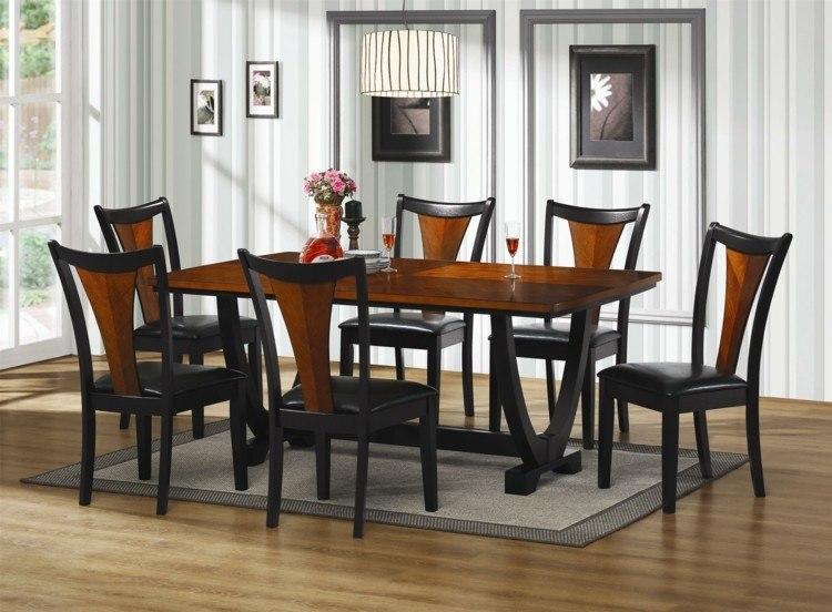 sillas negras respaldo madera