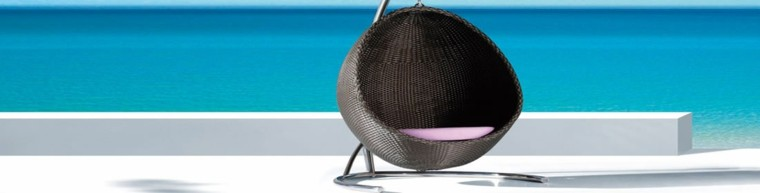 sillón colgante forma esfera
