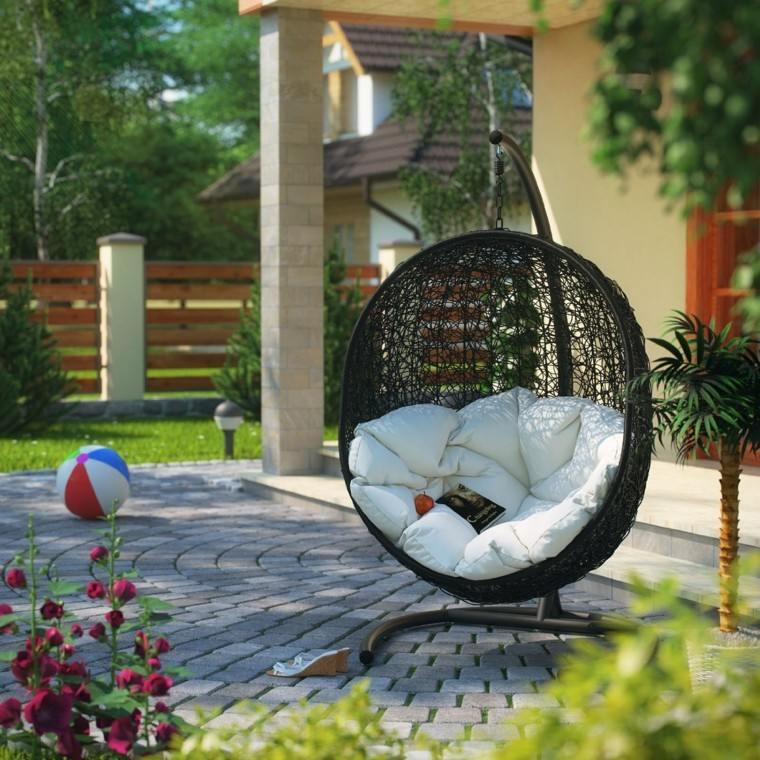 sillon forma esfera cojines blancos