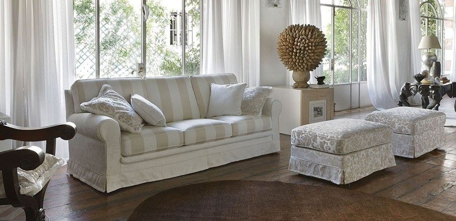 sofa clasica salon blanca preciosa ideas