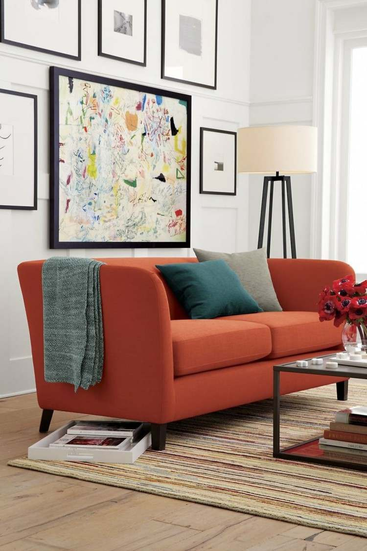 sofa colores diferentes estilo cuadros
