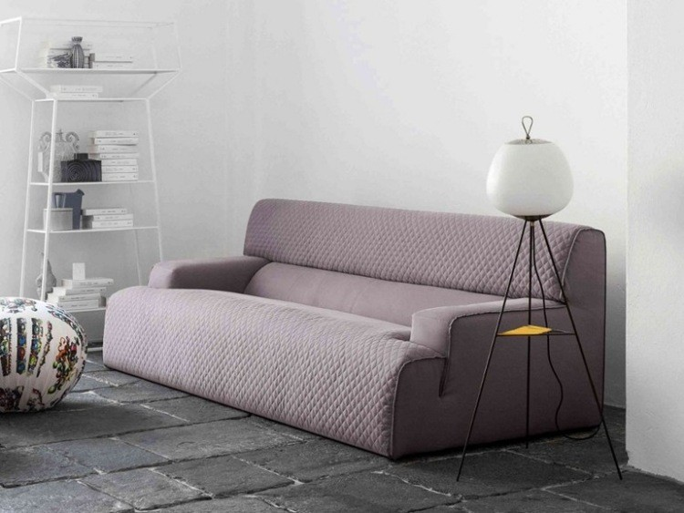 sofa extensible gris color lila