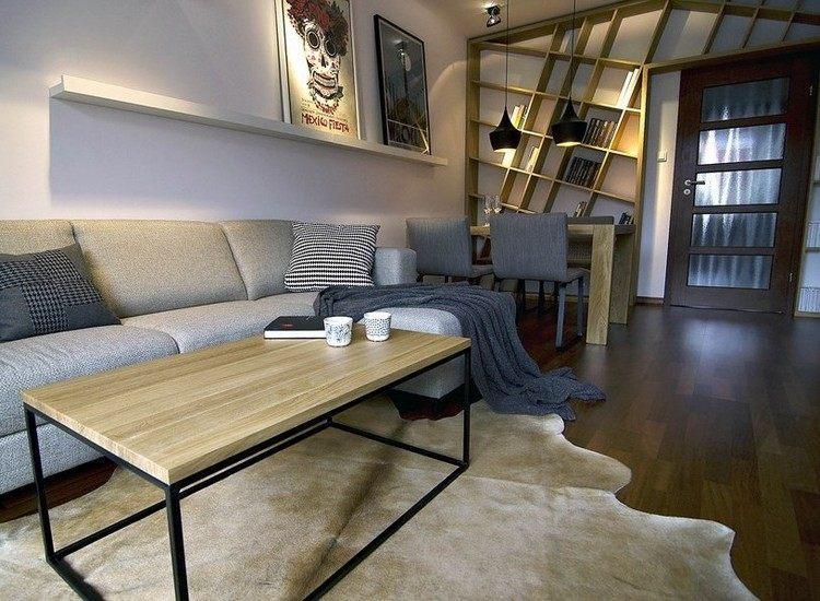 sofás energía oscura salon moderno alfombra beige ideas