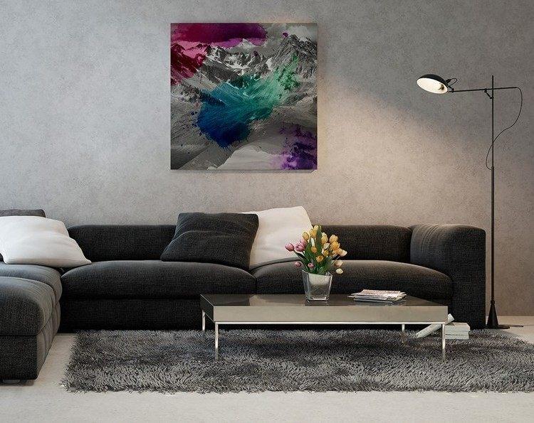 sofas energia oscura salon moderno cuadro precioso ideas