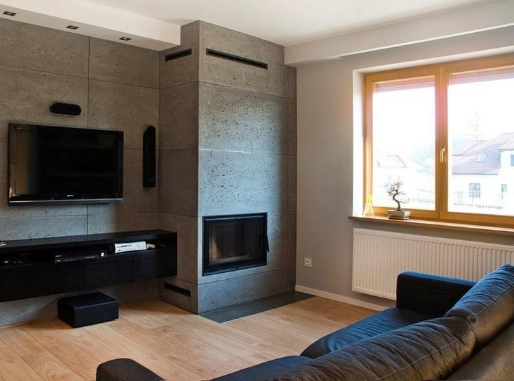 sofas energia oscura salon moderno estrecho ideas