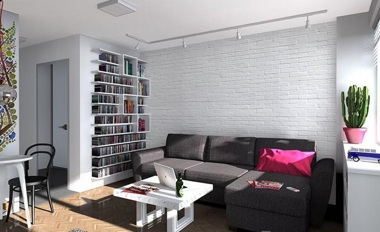 sofas energia oscura salon moderno mesita blanca ideas