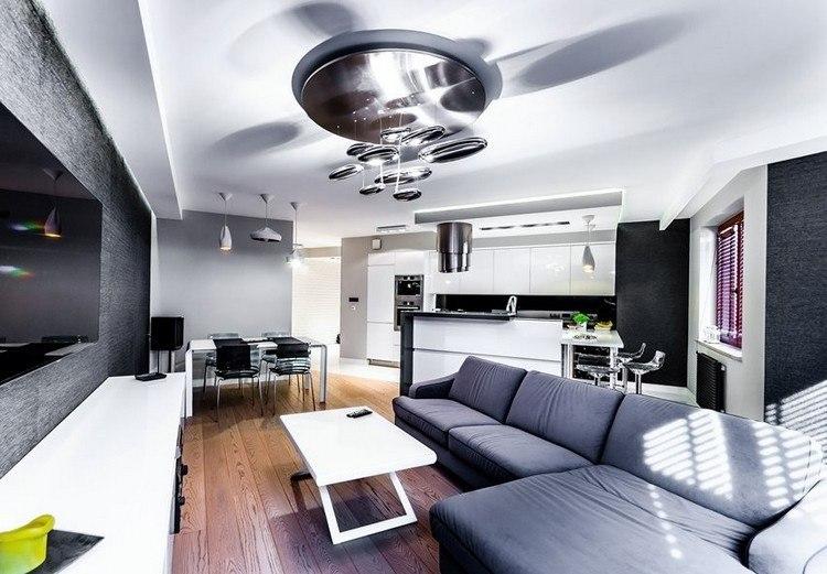 sofas energia oscura salon moderno original ideas