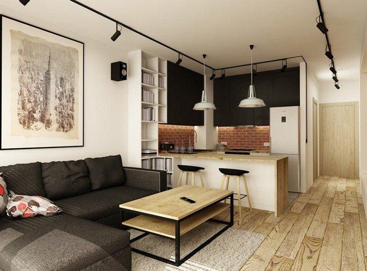 sofas energia oscura salon moderno pequeno aparatamento ideas